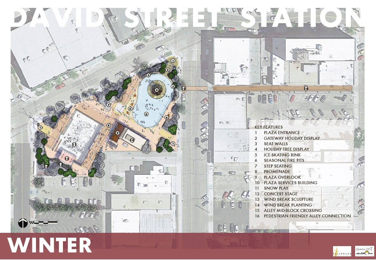 David Street Station Winter Layout