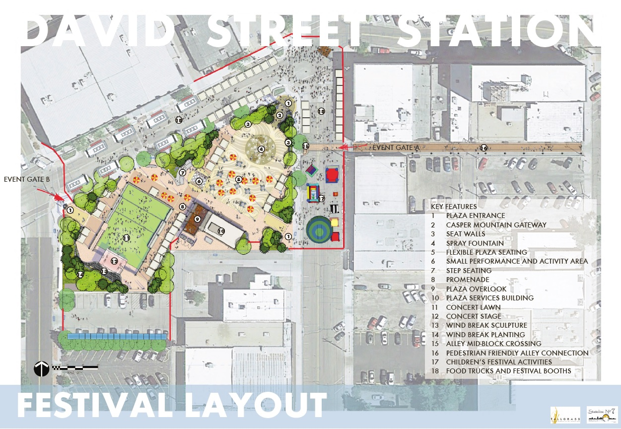 David Street Station Festival Layout