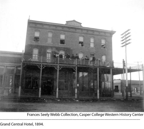 Grand Central Hotel, built in 1894. Frances Seely Webb Collection, Casper College Library.