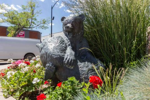 Bears Playing Statue Downtown Casper Wyoming