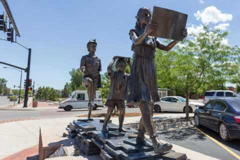 Peter Pan, Wendy and Friends Statue Downtown Casper Wyoming