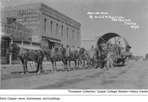 Early Casper views, businesses, and buildings. Thompson/Bryant Collection, Casper College Western History Center