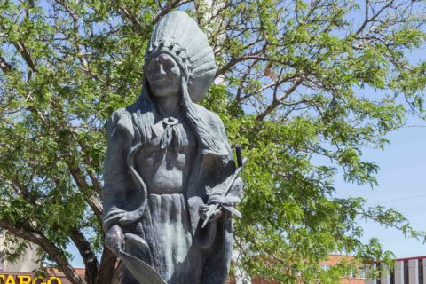 Native American Statue Downtown Casper Wyoming