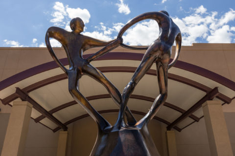 Plaza People Statue Downtown Casper Wyoming