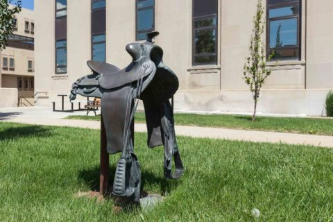 Saddle Statue Downtown Casper Wyoming