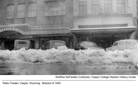 Rialto Theater, Casper, Wyoming. Blizzard of 1949.