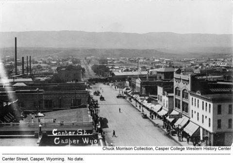Center Street, Casper, Wyoming. Chuck Morrison Collection, Casper College Library.