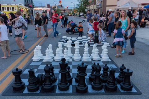 Giant Chess Board at Rock the Block