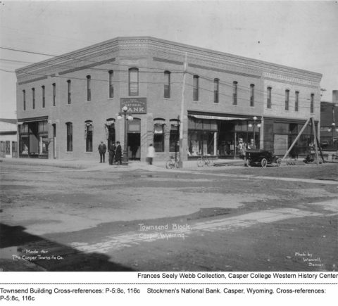 Townsend Building, Stockmen's National Bank. Casper, Wyoming.