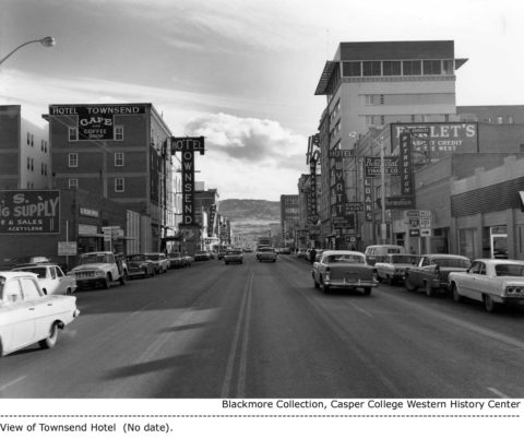 Center Street looking South, Casper, Wyoming. (1964-1966).